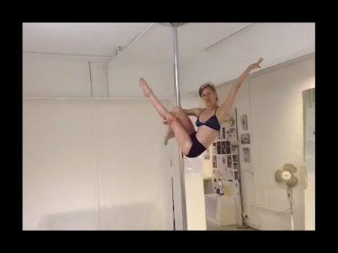 martini drop (intermediate/advanced pole dance trick) - YouTube