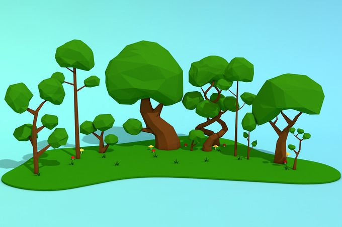 Low Poly Trees Pack by CreativeeArt on @creativemarket