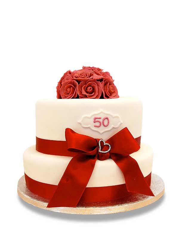 PuurTaart :: Taartengalerij - Verjaardag taart 50 jaar - Birtday cake