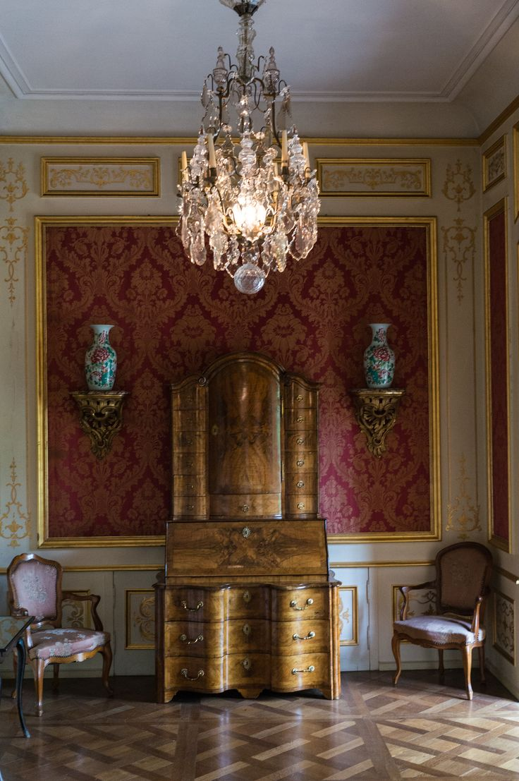 Pin french cafe style chair in red by ines cole on pinterest - In Castle Jegenstorf