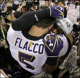 The Baltimore Ravens' victory over the San Francisco 49ers has set a record for the highest ratings in Super Bowl history.