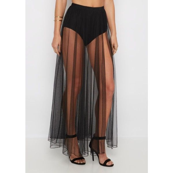 Black Sheer Tulle Maxi Skirt | Maxi | rue21 ❤ liked on Polyvore featuring skirts, transparent skirt, floor length skirts, sheer skirt, long tulle maxi skirt and long tulle skirt