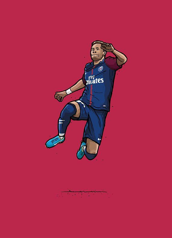 Neymar Psg Illustration Com Imagens Jogadores De Futebol