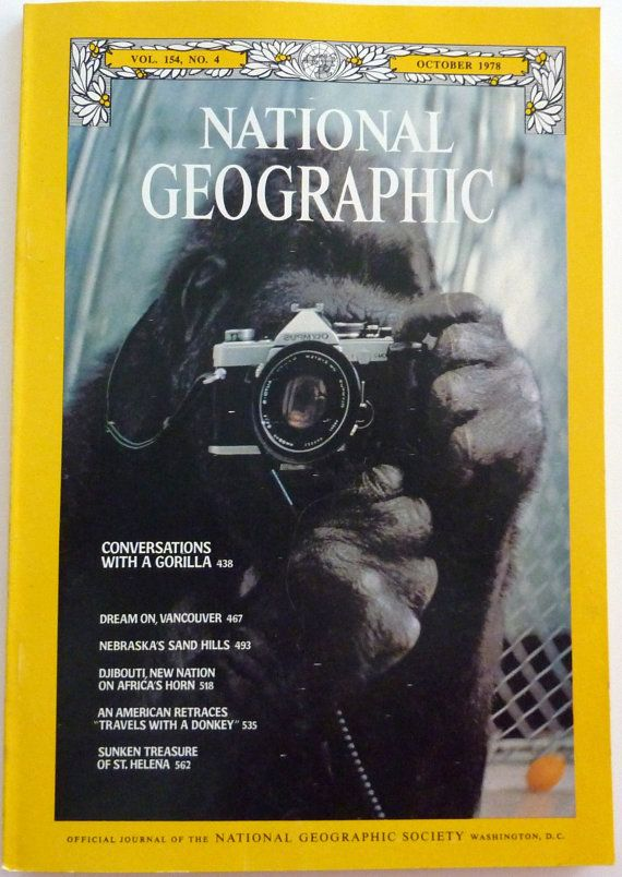National Geographic October 1978  Conversations with Koko the Gorilla (sign language)