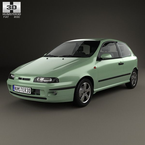 Fiat Bravo 1995 3d model from Humster3D.com