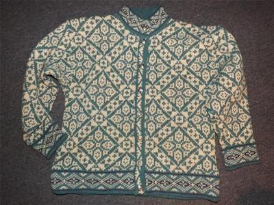 Ll Bean Norwegian Blue Pewter Button Cardigan Wool Sweater M | eBay