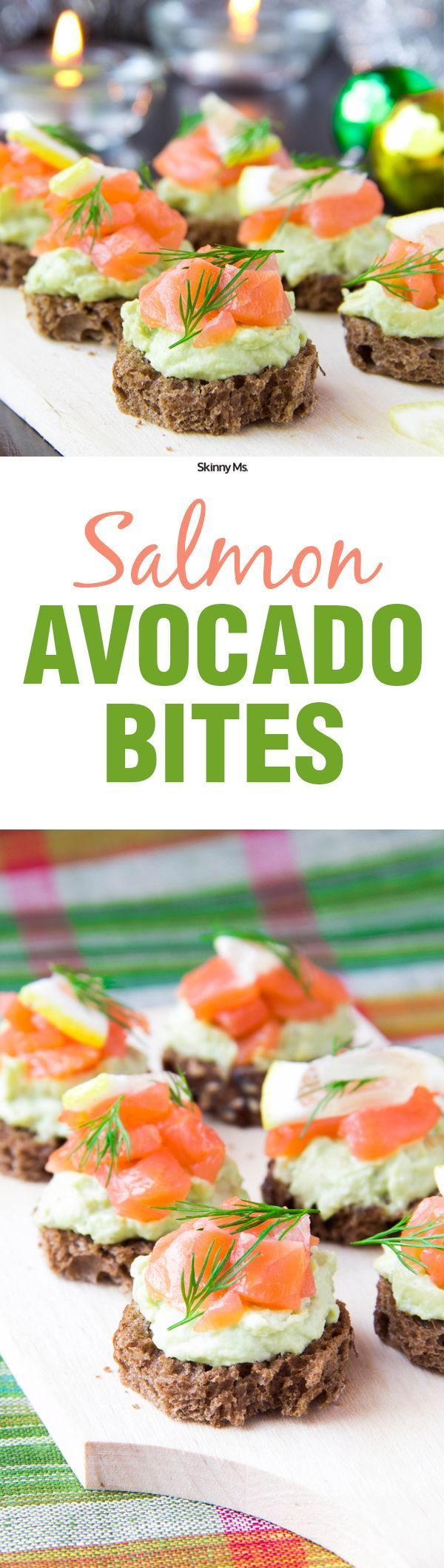 These Salmon Avocado Bites are an awesome superfood appetizer!