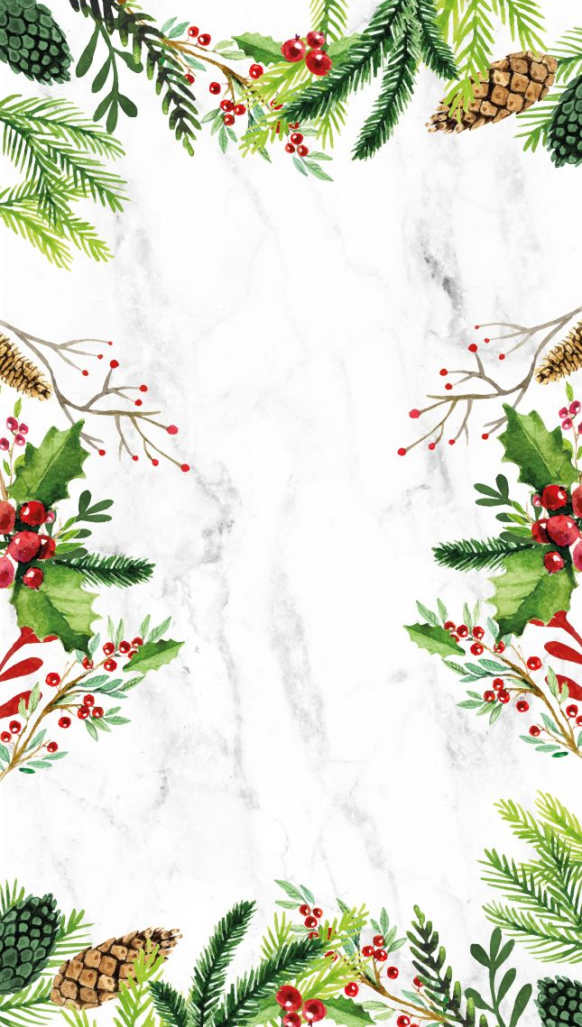 Green and red Iphone  Christmas Wallpapers