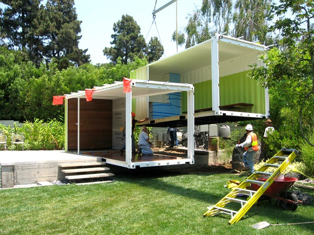 self contained under construction shipping containers and container pool. Black Bedroom Furniture Sets. Home Design Ideas