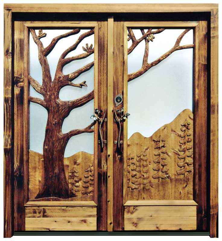 Hand Carved Door with Glass | Custom Front Doors | Custom Double Doors . & 9 best Interior Wood Doors images on Pinterest | Wood doors Gates ... pezcame.com