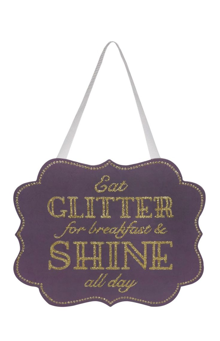 Eat Glitter Plaque