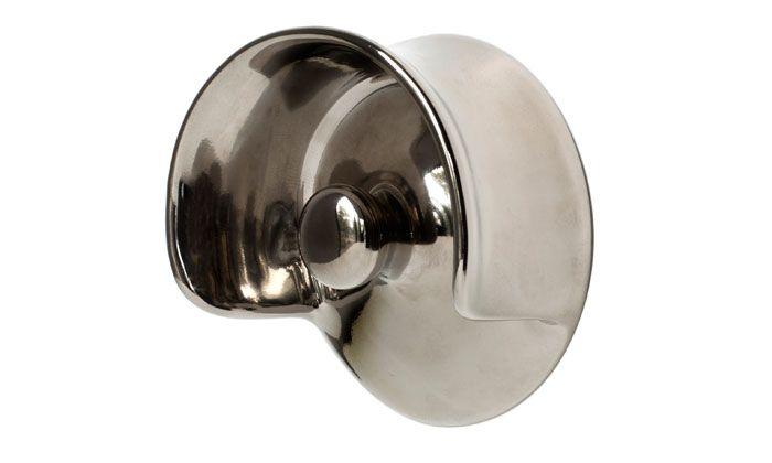 Hook: patère en porcelaine chromée