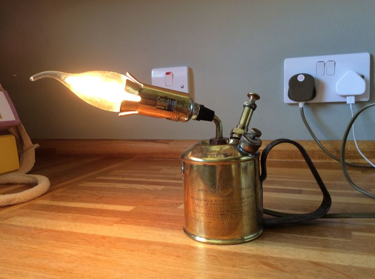 Blowtorch Table Lamp
