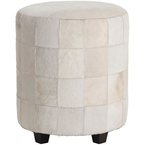 arteriors wimberely patchwork leather ottoman 14 550 zar liked on polyvore featuring home