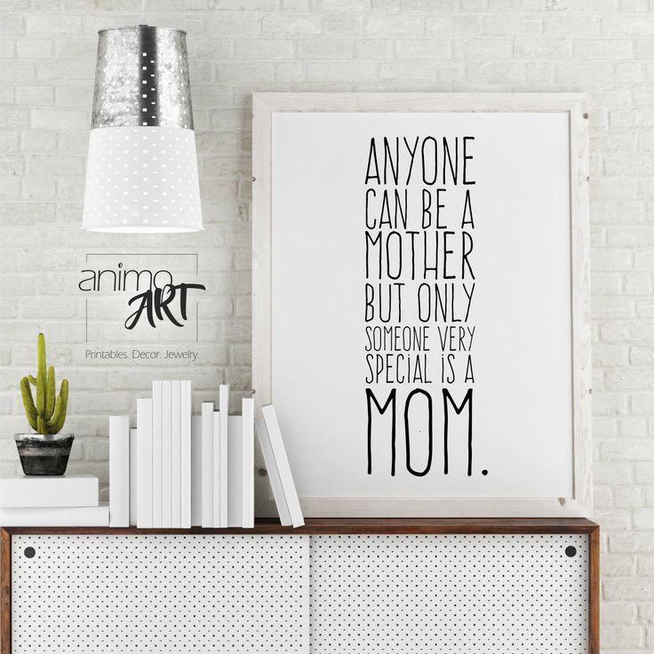 Muttertag - Geschenk für Mama zum Muttertag,  für die ganz besondere Mama, Deko zum Selbermachen, Wandbild, Deko zum Muttertag, Druckvorlage