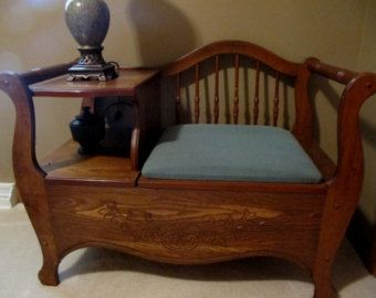 Gossip Benches 1930 S | Gossip Bench - Telephone Table -Pic k up & Cash Sale Only Menasha WI ...