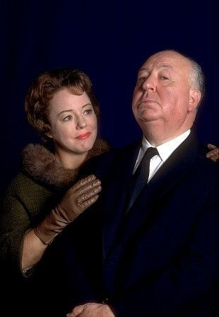 Hitch with his daughter Patricia who starred in Strangers on a Train, Psycho and several episodes of Alfred Hitchcock Presents, 1962