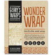 Gerry's Wraps 'Wonder Wraps' made from rice and chia seed.