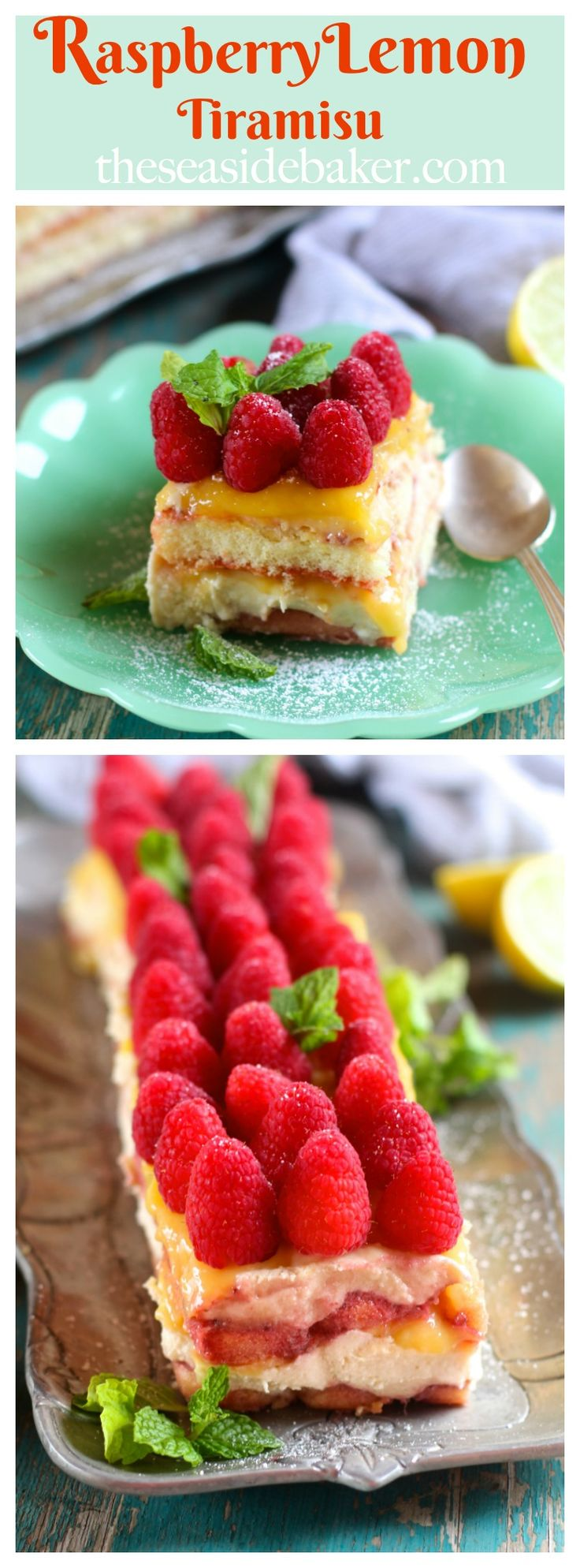 A fresh spin on an Italian classic, this easy Raspberry Meyer Lemon Curd Tiramisu will be perfect for your Spring entertaining