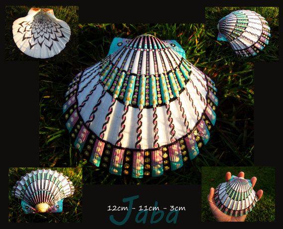 Handgemalte Meer Shell Babylon original-Kunst von Jabashop auf Etsy