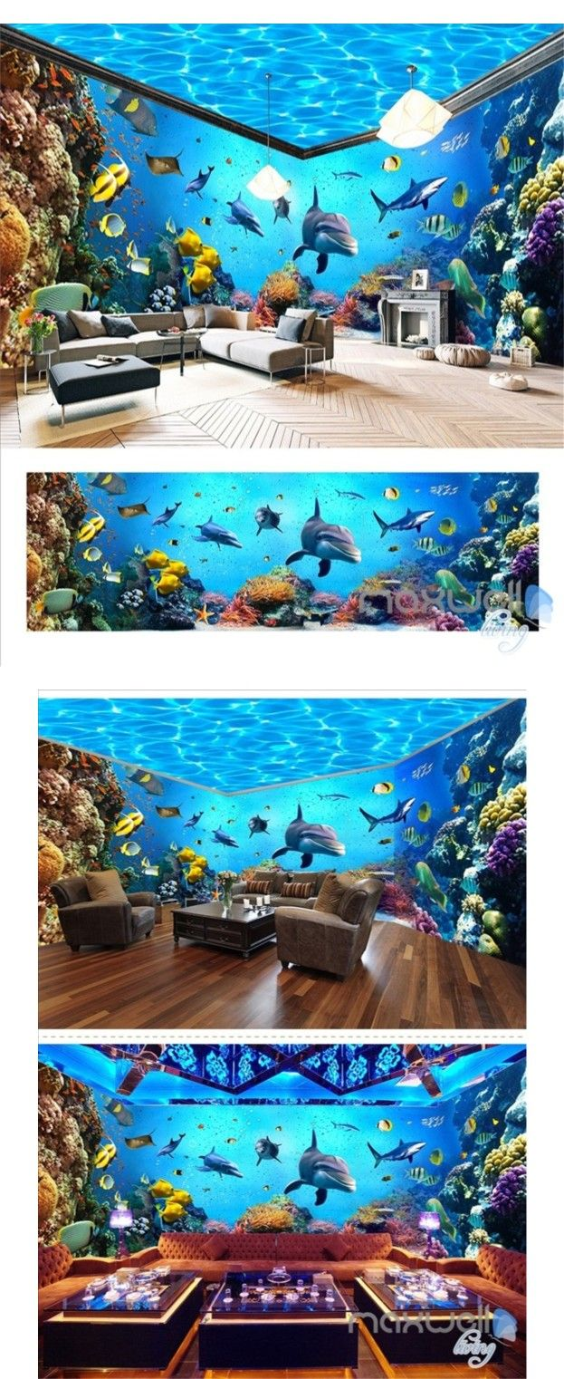 The 25 best underwater wallpaper ideas on pinterest for Underwater mural ideas