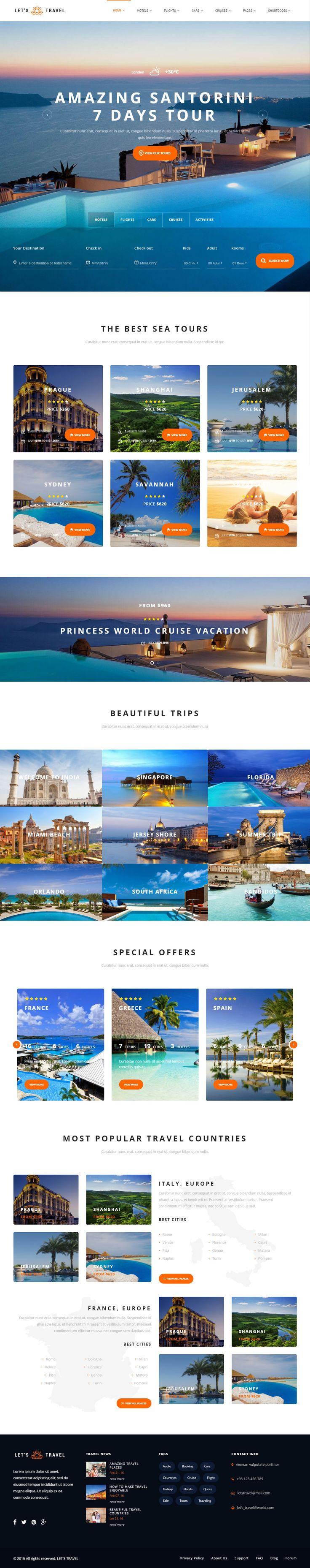 Let's Travel is Premium Responsive Retina Parallax #WordPress #Travel Theme. #VideoBackground. Bootstrap 3. Visual Composer. Test free demo at: http://www.responsivemiracle.com/lets-travel-premium-responsive-travel-booking-wordpress-theme/
