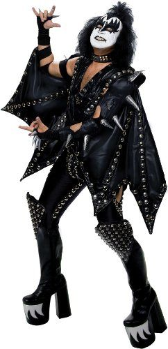 KISS The Demon Halloween Costumes. Let's Rock and Roll all day and party every night! Dress up as Gene Simmons AKA The Demon from the hottest rock band in the world - KISS!
