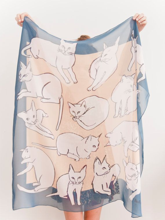 Picasso Cats Scarf $96