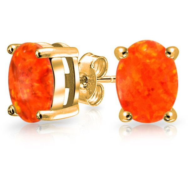 Bling Jewelry Bling Jewelry Gold Vermeil Gemstone Orange Mexican Fire... ($21) ❤ liked on Polyvore featuring jewelry, earrings, orange, gem earrings, gem jewelry, fake jewelry, anniversary jewelry and fire opal jewelry