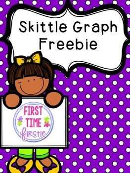 Skittle graph freebie for kinder 1st 2nd grades
