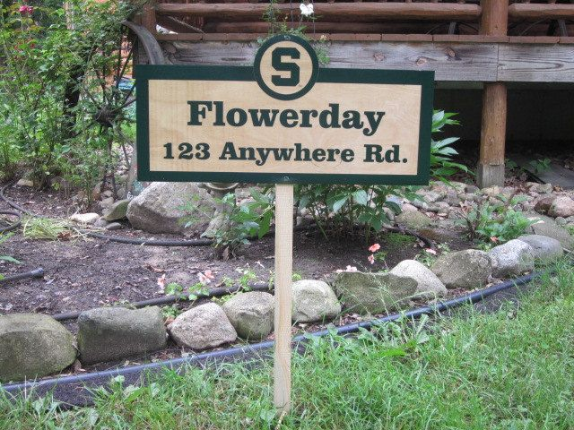 Michigan State University Sign  Block S by FlowerdayCrafts on Etsy, $32.00