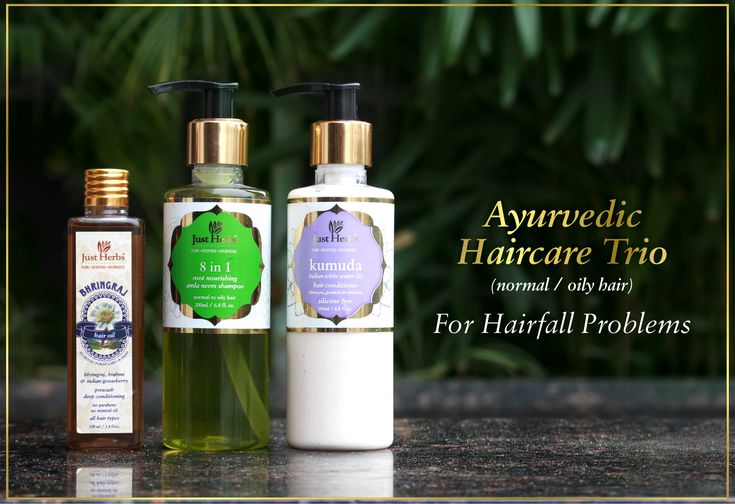 The 3 step ayurvedic haircare trio for hairfall problems. It consists of: 1. Bhringraj tail, free from mineral oils, is a therapeutic herbal oil & helps invigorate, revitalize the scalp & prevents hairfall. 2. 8 in 1 amla neem shampoo, free from SLS & parabens effectively cleans the hair & scalp. 3. Kumuda conditioner, free from silicones smoothens and nourishes dull & damaged hair without causing 'build-up' in your strands. #haircare #hairmatters #hairrepair #hairfall #hairoil #beautyhair
