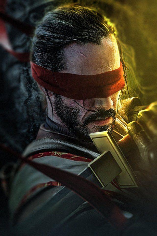 Keanu Reeves As Kenshi From Mortal Kombat Gaming Mortal Kombat X Wallpapers Scorpion Mortal Kombat Mortal Kombat Art