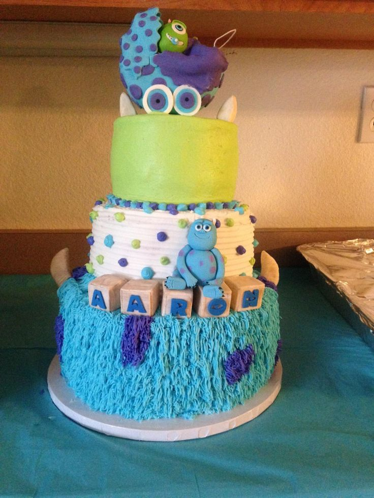 Beautiful Baby Shower Monsters Inc Cake.. | Baby Shower Cakes | Pinterest | Monsters,  Cake And Babies