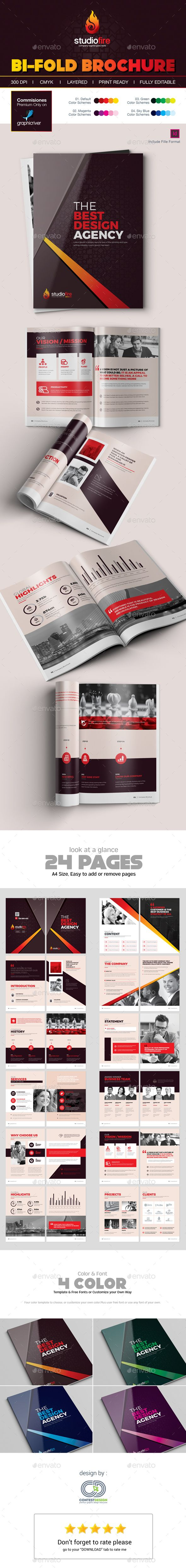 24 Pages Professional Brochure Design Template InDesign INDD