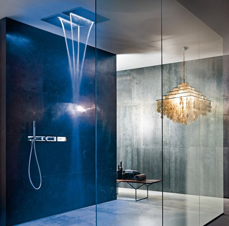 Design by Franco Sargiani for Fantini.  ACQUA ZONE: ceiling shower head with rain and waterfall.  ACQUA ZONE DREAM: new generation ceiling shower head, with electronic controls and six different moods of water and light. #fantini #fantinirubinetti #doccia #shower #bagno #bathroom #batroominterior #design #homeideas #interiordesign