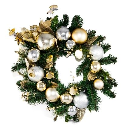 #christmas #wreath ships Australia wide http://j.mp/1tafPVk  #decor #holidays #gold #white #green