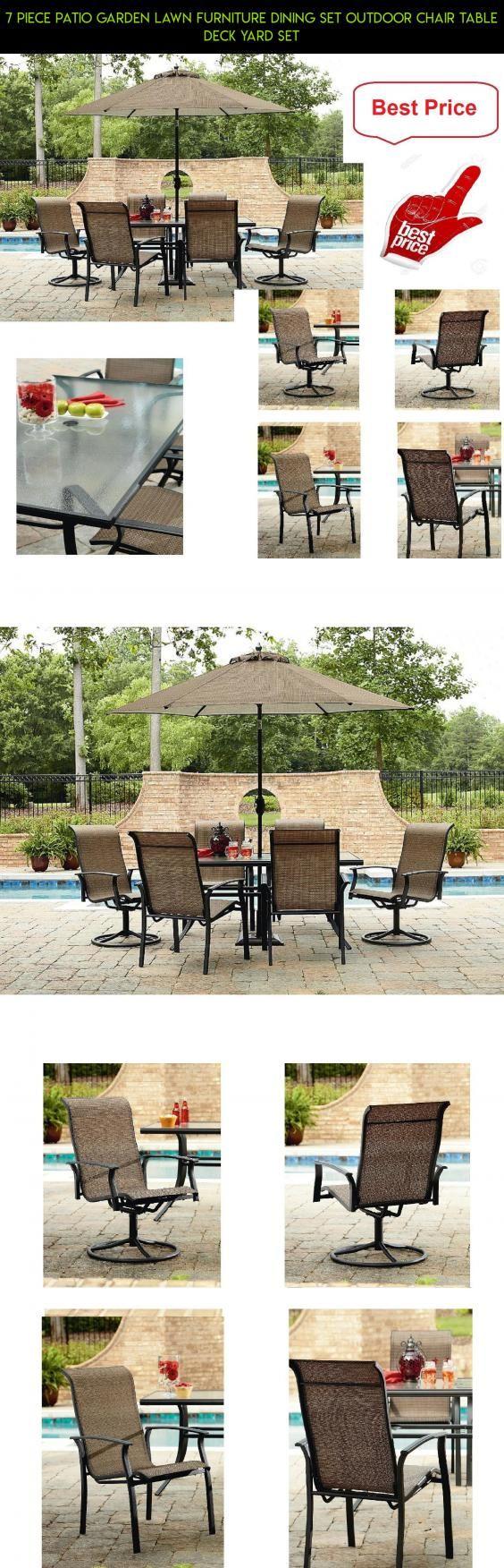7 Piece Patio Garden Lawn Furniture Dining Set Outdoor Chair Table Deck  Yard Set #tech