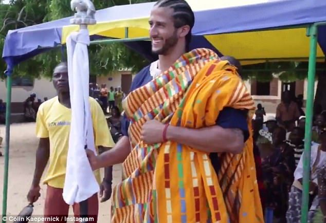 NFL free agent Colin Kaepernick has posted a video of his trip 'home' to Ghana in a 'quest to find personal independence'