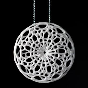 Cellular Pendant White, £34, now featured on Fab.
