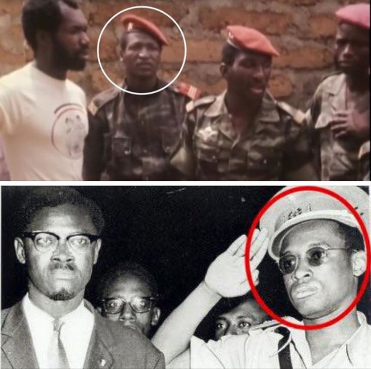 Our leaders were sold by their own. 1-Blaise Compaore with Thomas Sankara before he killed him. 2-Patrice Lumumba with his future assassin Mobutu Sese Seko saluting him.