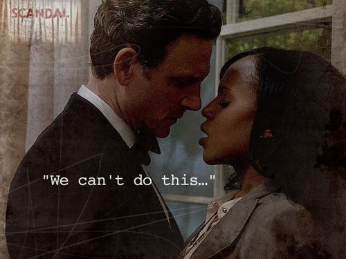 """""""We can't do this"""" ~ Olivia   #ScandalABC"""