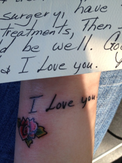 Love this.  Could be a great idea as a tribute to my own grandmother... her handwriting was very distinctive.