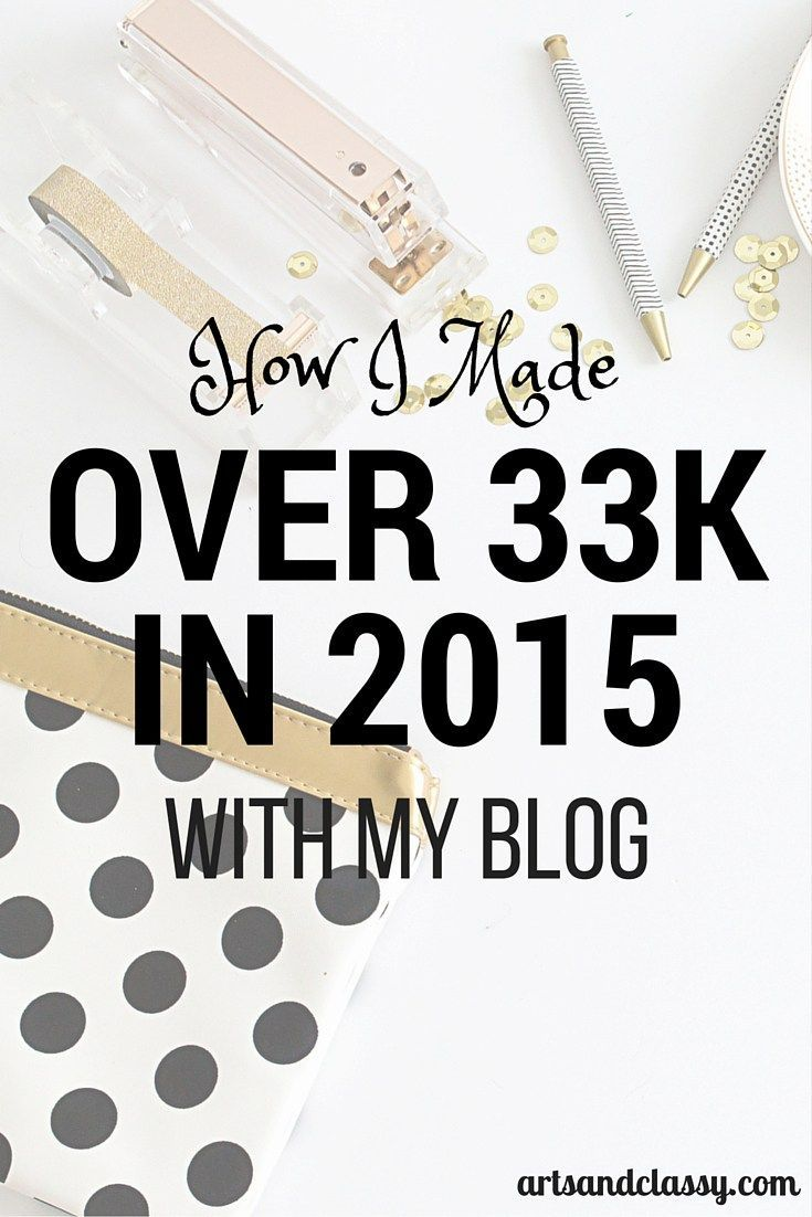 Learn How I Made Over 33k in 2015 with my blog! I am excited to share how I did it to help newbie blogger out there to really make the most of their online presence and how to make money doing it!