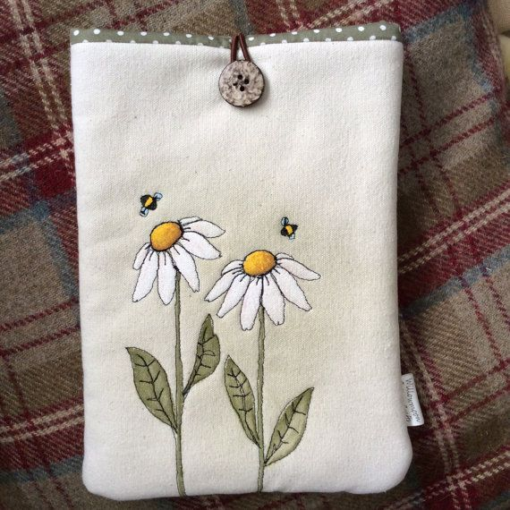 Daisies & Bees  iPad mini / kindle cover by WillowmoonDesignsGB