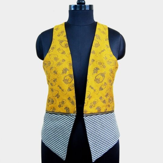 Zipper waistcoat online shopping India | Tadpole Store | Sweet Couch