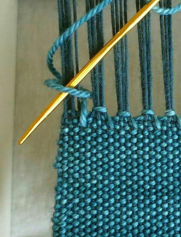 Ending the weaving
