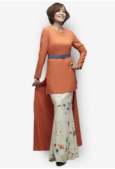 Tivela Modern Kurung from Emel by Melinda Looi in orange_1