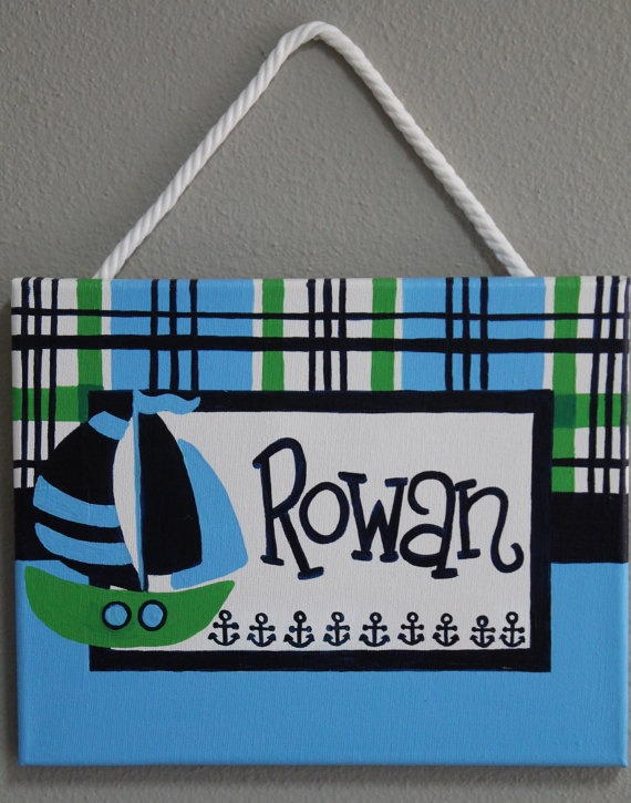 Preppy Lime Green and Navy Nautical Themed by KraftinMommy on Etsy, $40.00