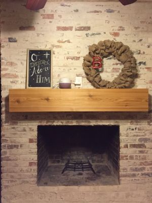 How to Mortar Wash (German Smear) a Brick Fireplace - tutorial with simple instructions, including before and after photos
